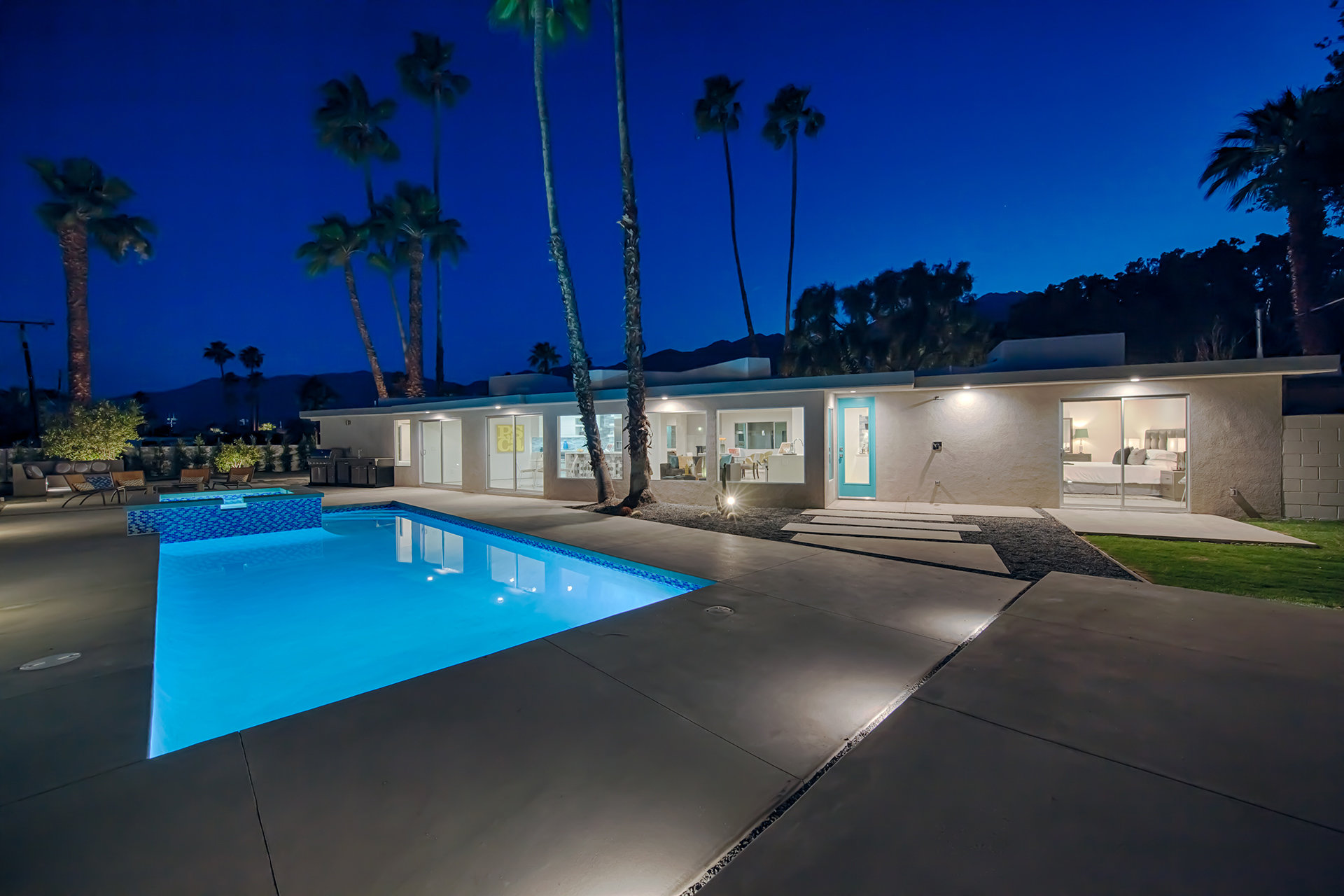 A mid-century home with pool in the Sunrise Park neighborhood of Palm Springs, California
