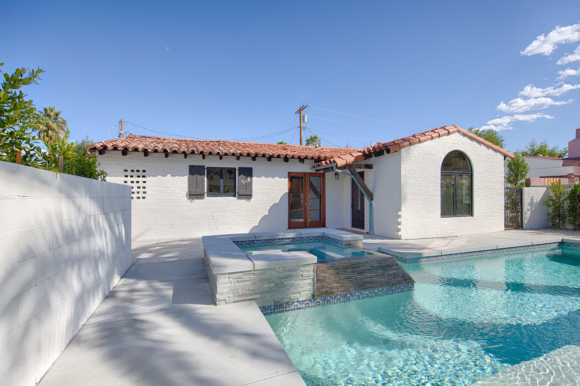 A Spanish home in the Warm Sands neighborhood of Palm Springs, California
