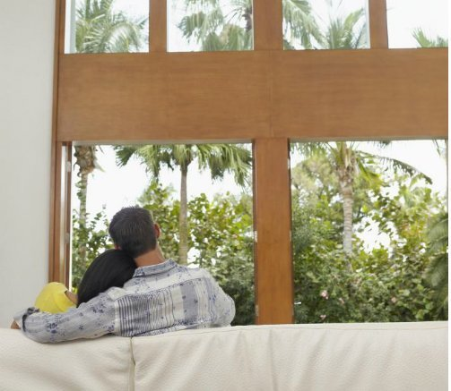 Couple Relaxes In Palm Springs Vacation Rental